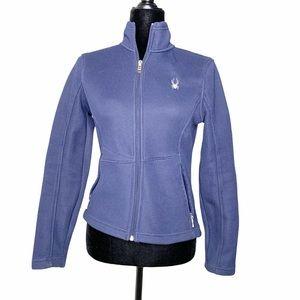 Spyder Navy Blue Full Zip Fleece Lined Jacket